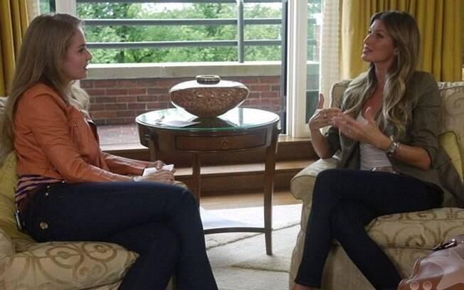 Gisele Bündchen concede entrevista à apresentadora Angélica