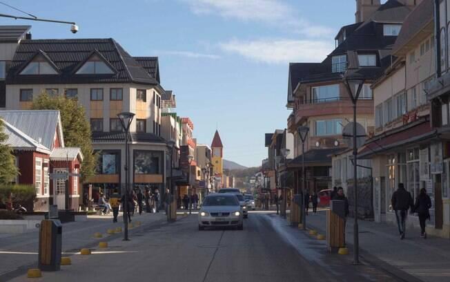 San Martin, a principal avenida de Ushuaia.
