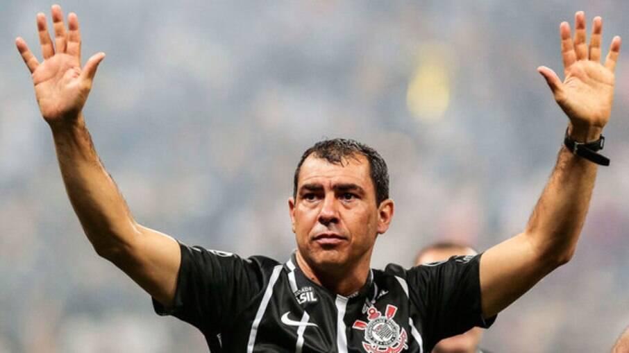 Fábio Carille venceu em seu primeiro ano como treinador do Corinthians o Paulistão e o Campeonato Brasileiro