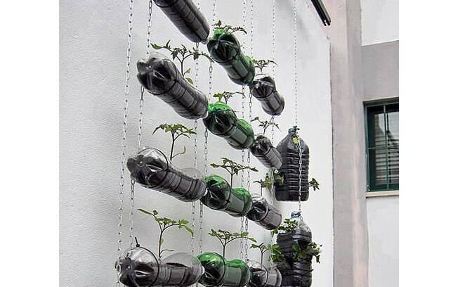 Garrafas De Plástico Também Podem Ser Usadas Como Recipientes ~ Artesanato Reciclavel Para Jardim
