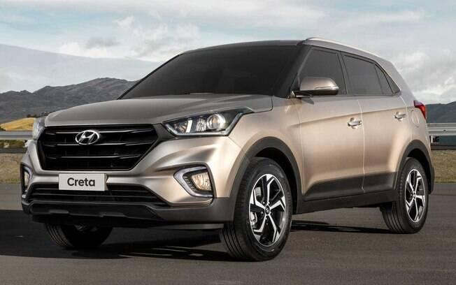 Hyundai Creta dourado