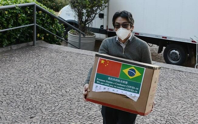 Empresa chinesa doou máscaras para Campinas