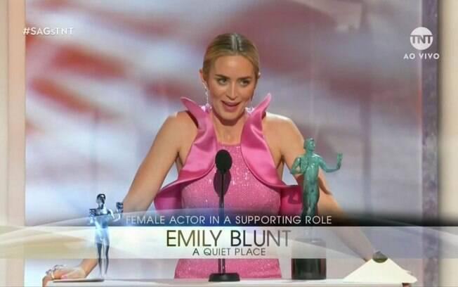 Esnobada no oscar, Emily Blunt levou o prêmio de Melhor Atriz Coadjuvante por