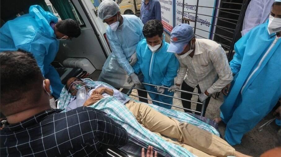 13 pacientes internados com Covid morreram após incêndio antigir hospital em Mumbai