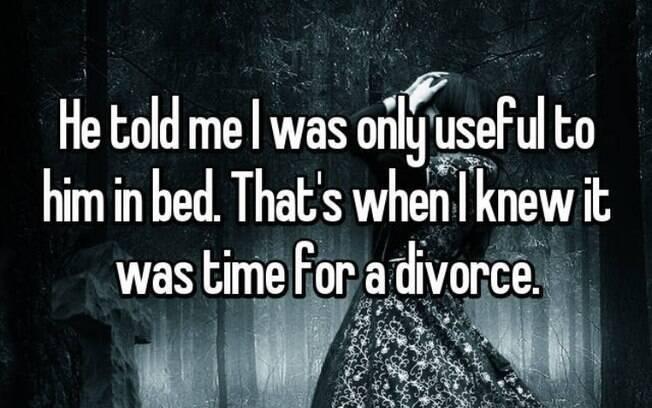 Para o ex-marido, a única utilidade dessa mulher era na cama. Ela mostrou que ele estava errado e se separou