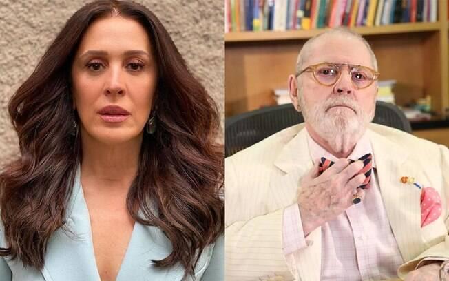 Claudia Raia relembra ajuda de Jô Soares no combate ao câncer