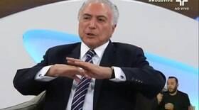 Temer diz que foi leal a Dilma e critica tirar Bolsonaro do poder