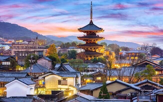 A cidade histórica de Quioto já foi a capital do Japão