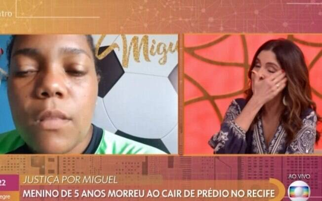 Fátima Bernardes entrevistou Mirter, mãe de Miguel, no