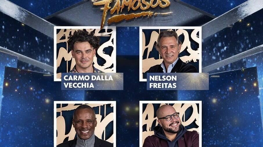 Participam da categoria masculina Tiago Abravanel, Carmo Dalla Vecchia, Robson Caetano e Nelson Freitas