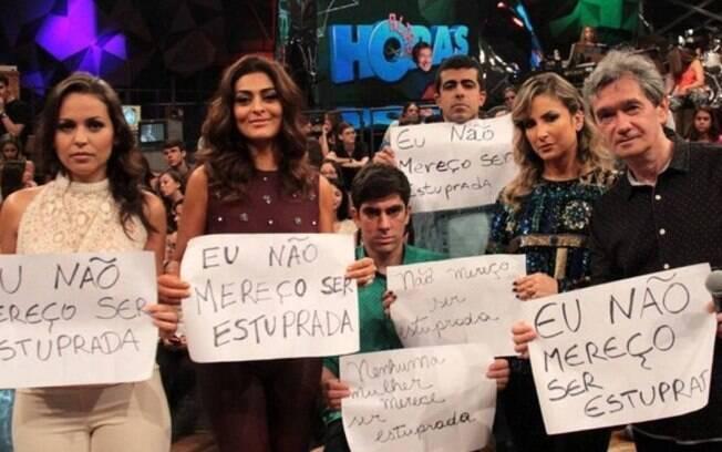 Melhem participou de campanha contra assédio sexual feminino