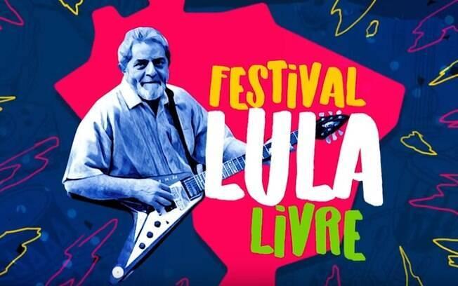 Banner do festival Lula Livre