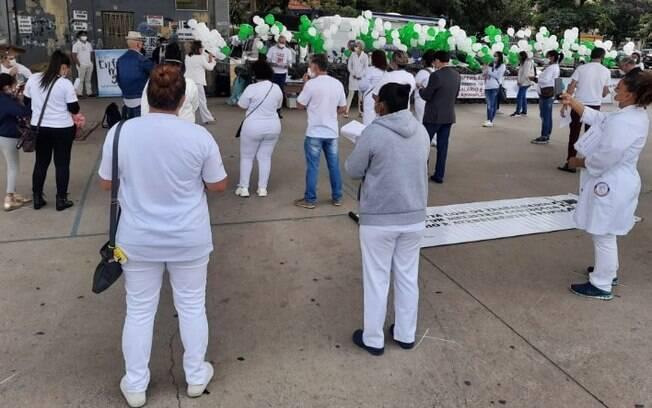 Semana da Enfermagem 2021 tem ato na Praça Arauto da Paz