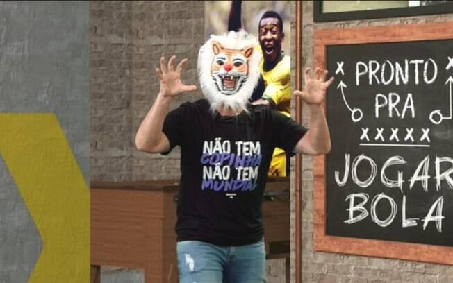 Com direito a máscara de tigre, Neto zoa Palmeiras e corneta Felipe Melo: 'Não era jogo para ele'