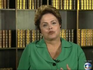 Dilma ao JN