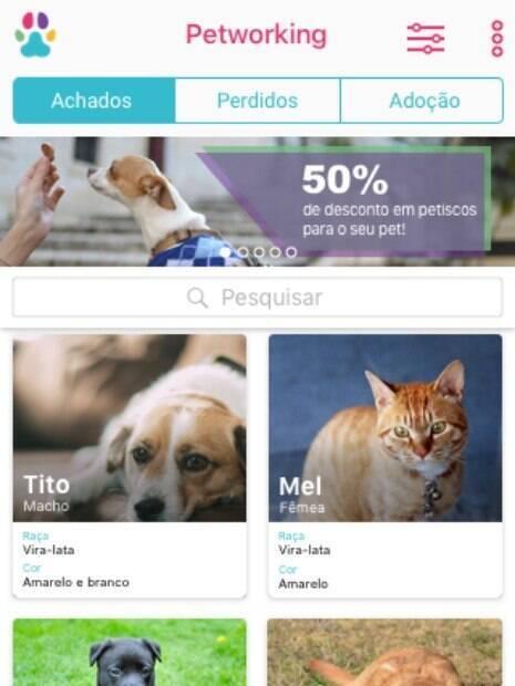 Novo aplicativo auxiliam donos a encontrarem seus animais desaparecidos