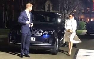 Grávida, Meghan Markle usa vestido de R$ 4 mil e exibe barriga em look branco