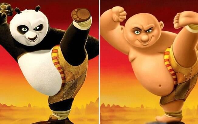O urso panda que luta artes marciais.