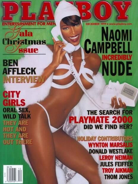Naomi Campbell está entre as poucas mulheres negras que estamparam a capa da Playboy dos EUA