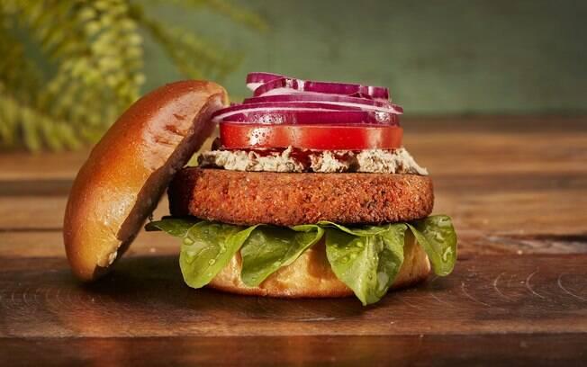 hambúrguer vegano ou vegetariano