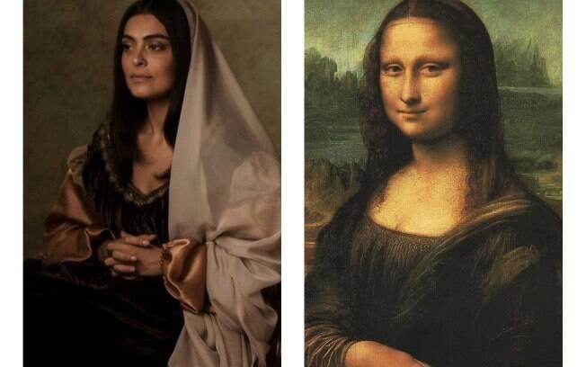 A vida imita a arte? Confira as fotos de famosos que parecem obras de arte