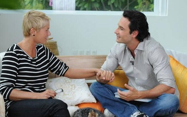Xuxa e Rodrigo Santoro: trocas de intimidades