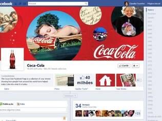 Coca-cola é uma das primeiras marcas a usar a Timeline do Facebook na fan page