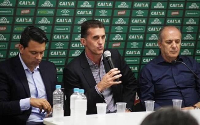 Técnico Vagner Mancini foi apresentado na Chapecoense na última semana