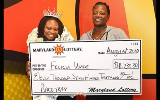 A americana Felicia Wade ficou muito surpresa ao faturar R$ 300 mil por ganhar na loteria em quatro semanas