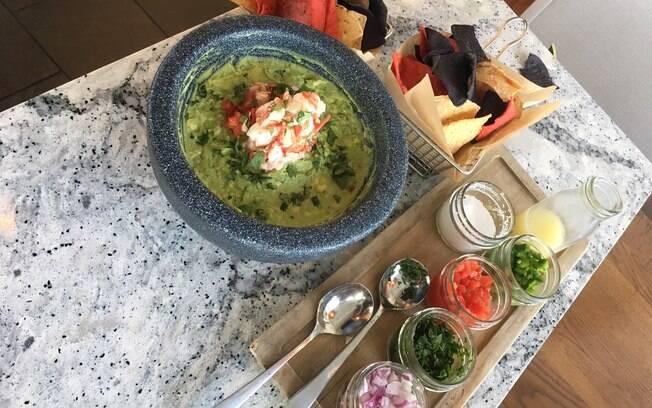Guacamole do restaurante Paddlefish, de Disney Springs, em Orlando, nos Estados Unidos