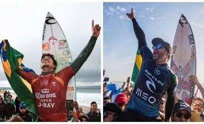 Tufão faz final de Medina e Ítalo Ferreira no surfe ser antecipada