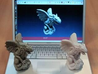 Modelos 3D são gerados a partir de arquivos de computador