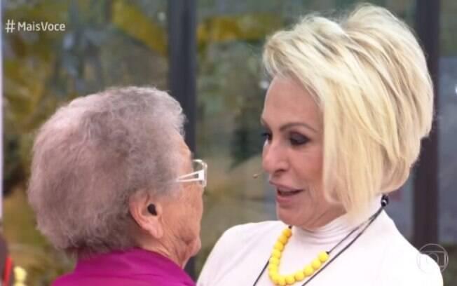 Palmirinha se emociona ao reencontrar Ana Maria Braga