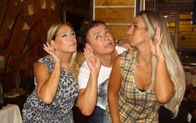 Susana Vieira almoça com Valesca Popozuda e David Brazil no Rio de Janeiro