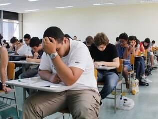 Os estudantes realizam nesta terça-feira (6) o terceiro dia de prova da segunda fase da Fuvest