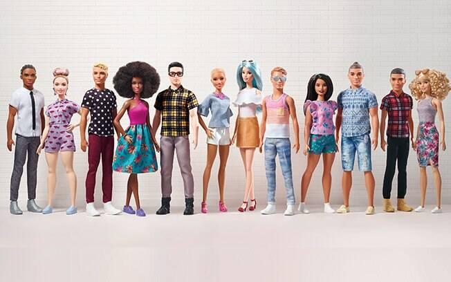 Linha Barbie Fashionistas é expandida com inclusão de dos dois novos tipos de corpo do boneco Ken e novos estilos para Barbie
