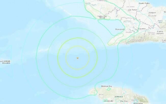 O abalo gerado pelo terremoto