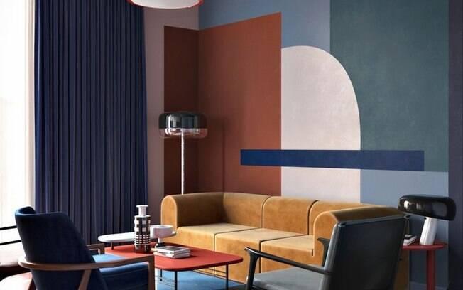 Ousadia na mistura das cores pode fazer toda diferença na sala da sua casa