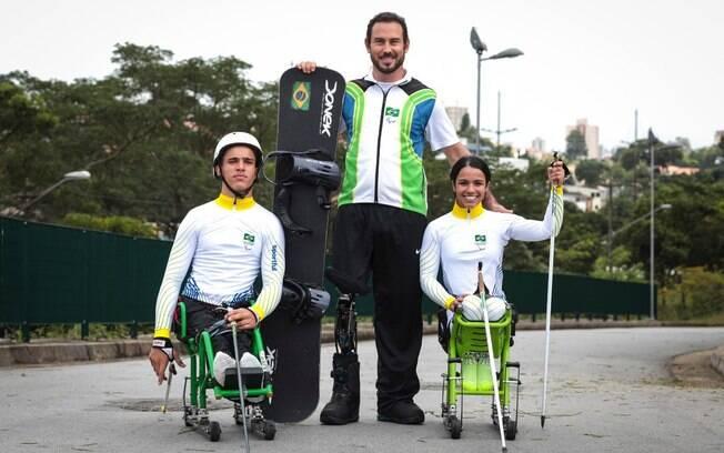 Cristian Ribera, André Cintra e Aline Rocha são os brasileiros nos Jogos Paralímpicos de Inverno