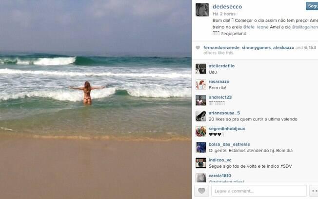 Deborah Secco mostra sua ótima forma no Instagram