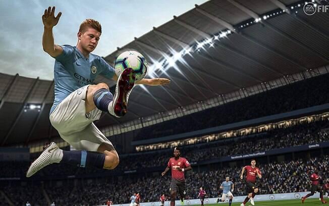 Cena do game Fifa 19, que está com 80% de desconto na loja da Amazon