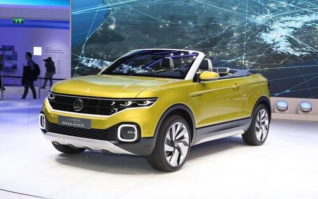 Apresentado no Salão de Genebra (Suíça), o conceito T-Cross Breeze adianta o design do futuro SUV baseado no Volkswagen Gol.