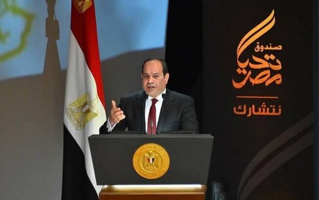 O presidente do Egito, Al-Sisi, assumiu o poder no país em 2014