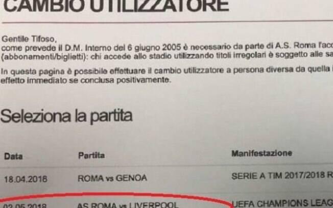 Roma anunciou partida contra Liverpool em seu site oficial antes mesmo do sorteio da entidade europeia