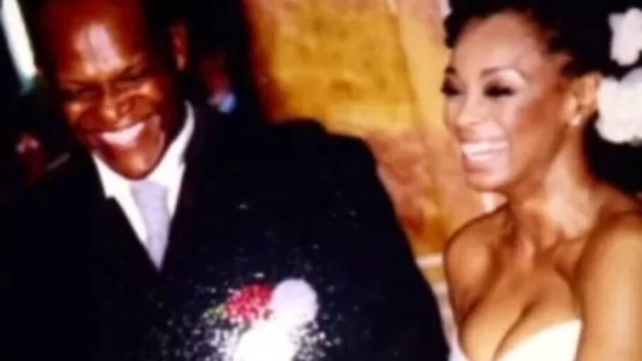 Paula Lima no seu casamento com Ronaldo Bomfim