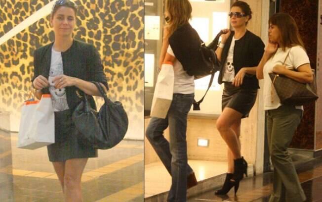 Giovanna Antonelli passeia com as amigas no shopping