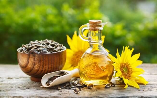semente e óleo de girassol