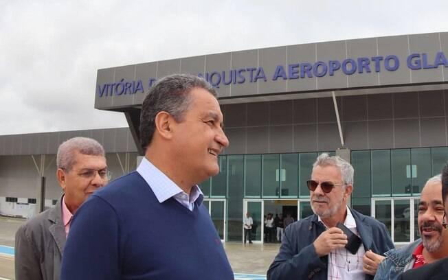 O governador Rui Costa não compareceu à inauguração do aeroporto de Vitória da Conquista