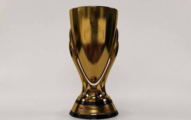 O troféu que será entregue ao Campeonato Paulista de 2017 elaborado pela FPF