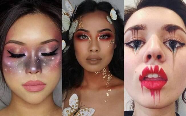 Ideias de fantasias para o Halloween: outra opção é apostar em maquiagens com como celestial, fada e com ilusão de ótica